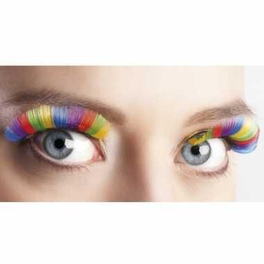 Goedkope regenboog kunst wimpers xl volwassenen