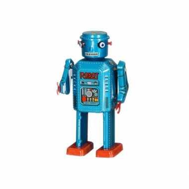 Goedkope retro robot blauw