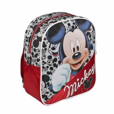 Goedkope rode disney mickey mouse rugtas kinderen