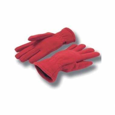 Goedkope rode fleece handschoenen volwassenen