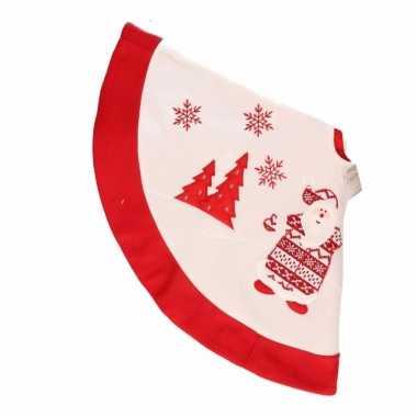 Goedkope rode kerstboomrok kleed kerstman