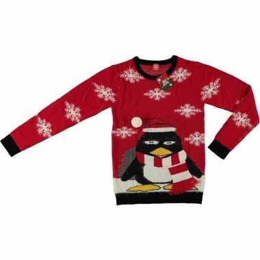 Goedkope rode kersttrui pinguin volwassenen