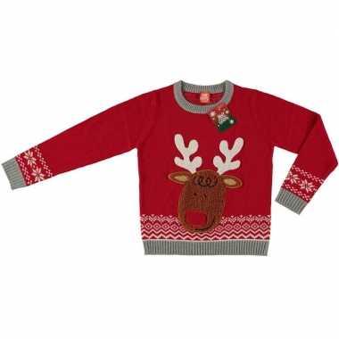 Goedkope rode kersttrui rendier kinderen