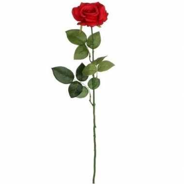 Goedkope rode roos kunstbloem