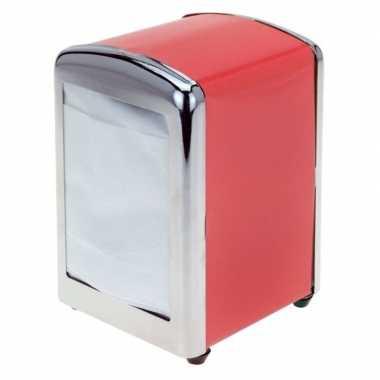 Goedkope rode servethouder/ servetten dispenser