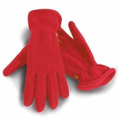 Goedkope rode warme fleece handschoenen volwassenen