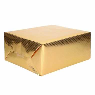 Goedkope rol inpakpapier goud motief