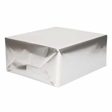 Goedkope rol inpakpapier uni zilver