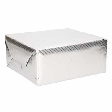 Goedkope rol inpakpapier zilver motief