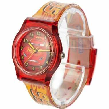 Goedkope rood disney cars analoog horloge jongens