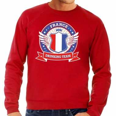 Goedkope rood france drinking team sweater heren