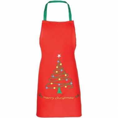 Goedkope rood kerst schort kinderen
