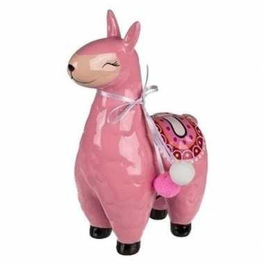 Goedkope roze alpaca / lama spaarpot
