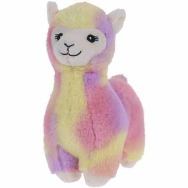 Goedkope roze/geel/paarse pluche alpaca/lama knuffel