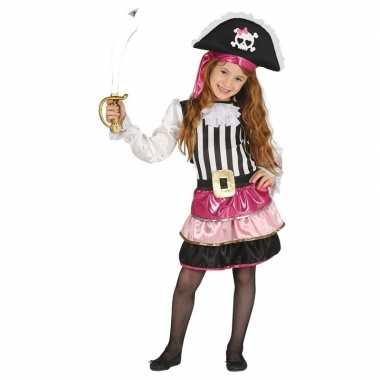 Goedkope roze piraten verkleedjurkje meisjes