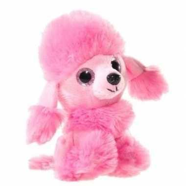 Goedkope roze pluche poedel honden knuffel