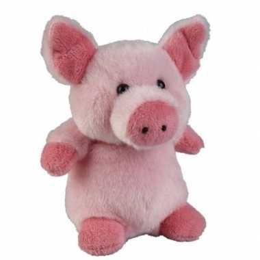 Goedkope roze pluche varken/biggetje knuffel speelgoed