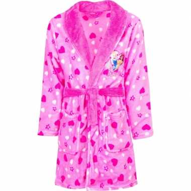 Goedkope roze princess badjas capuchon meisjes