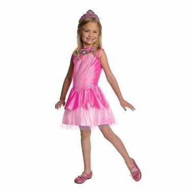 Goedkope roze prinsesen jurkje meisjes