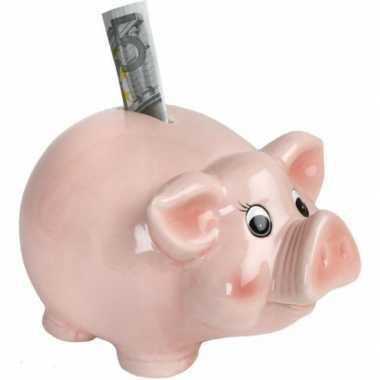 Goedkope roze spaarvarken spaarpot .