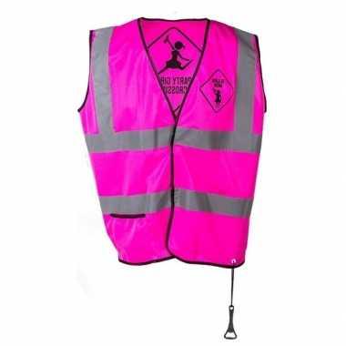 Goedkope roze veiligheidsvestje party girls dames