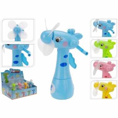 Goedkope roze waterspray ventilator giraffe kinderen