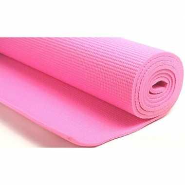 Goedkope roze yogamat/sportmat