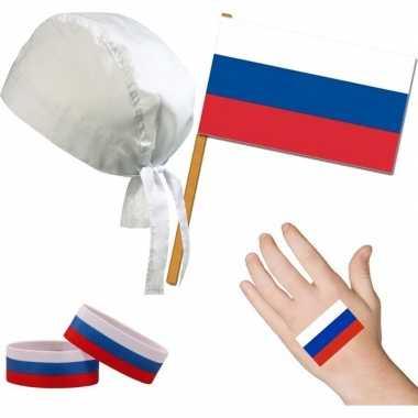 Goedkope rusland/russisch thema verkleed set volwassenen