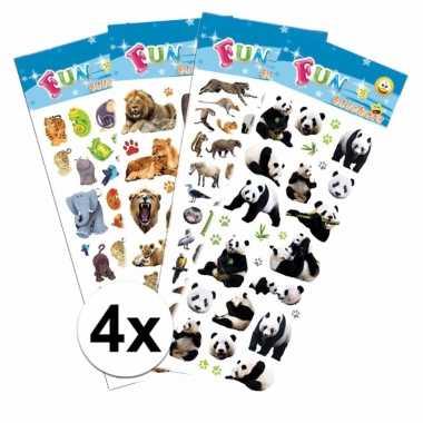 Goedkope safari thema kinder stickers pakket