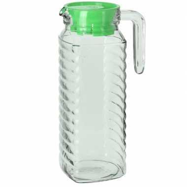 Goedkope schenkkan groene deksel liter