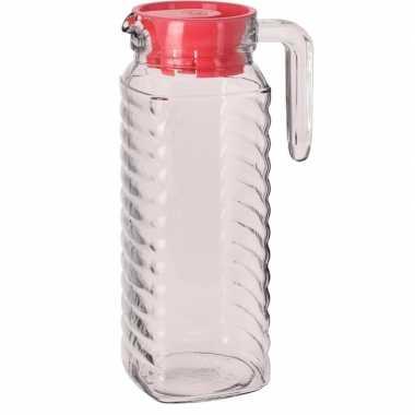 Goedkope schenkkan rode deksel liter