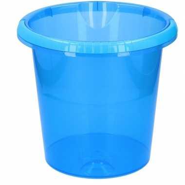 Goedkope schoonmaak / huishoud emmer transparant blauw liter
