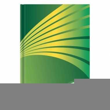 Goedkope schrift a formaat groene harde kaft