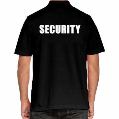 Goedkope security grote maten poloshirt zwart heren