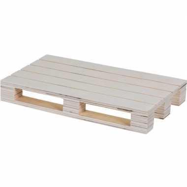 Goedkope serveerplank/dienblad pallet hout