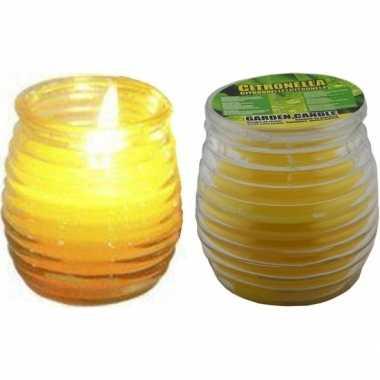 Goedkope setje citronella muggen kaarsen glas .