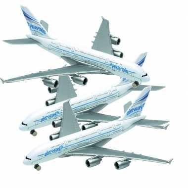 Goedkope setje stuks metalen speelgoed vliegtuigjes