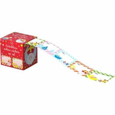 Goedkope sinterklaas cadeau stickers stuks