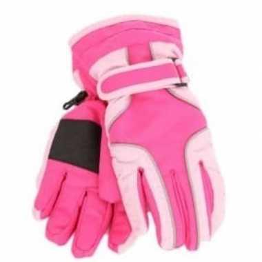 Goedkope ski handschoenen meisjes waterproof knal roze