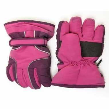 Goedkope ski handschoenen meisjes waterproof paars