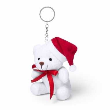 Goedkope sleutelhanger witte kerst beer