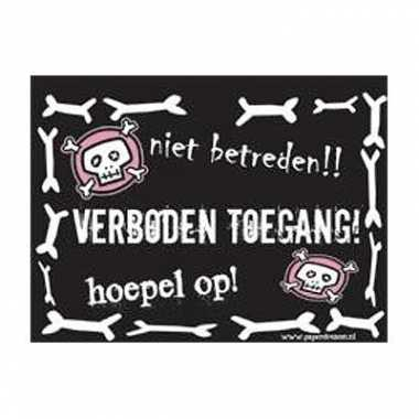 Goedkope slogan bord verboden toegang