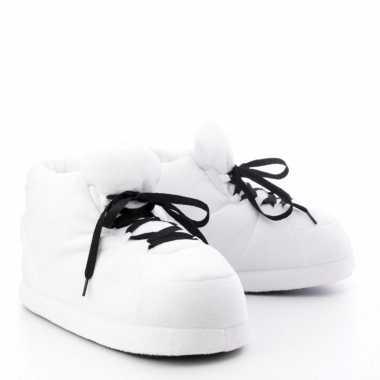 Goedkope sneaker pantoffels/sloffen volwassenen wit maat /