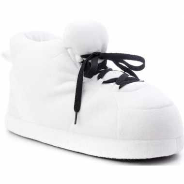 Goedkope sneakers sloffen/pantoffels wit dames