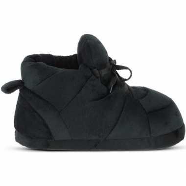 Goedkope sneakers sloffen/pantoffels zwart heren