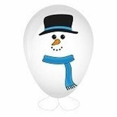 Goedkope sneeuwpop ballon versieren