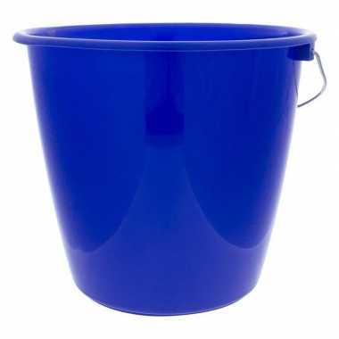 Goedkope sorbo emmer blauw kunststof liter