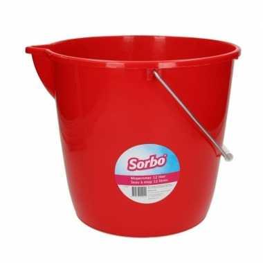 Goedkope sorbo mini mopemmer rood liter