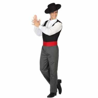 Goedkope spaanse flamencodanser verkleed kostuum heren