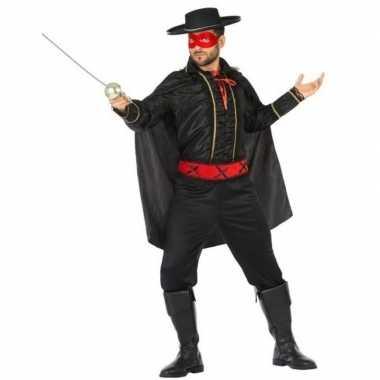 Goedkope spaanse gemaskerde held verkleed kostuum heren